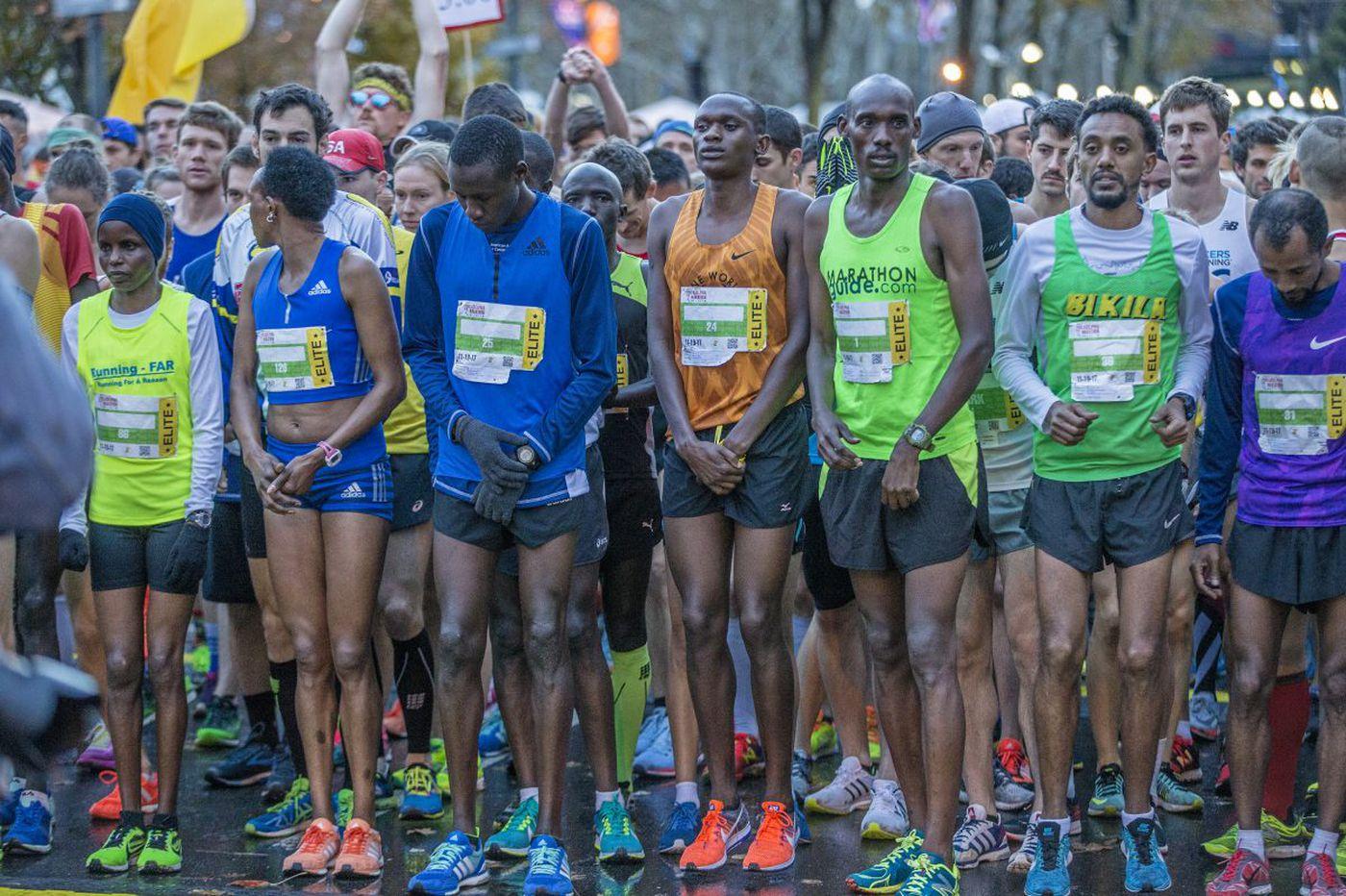 Boniface Kongin wins men's 2017 Philadelphia Marathon; Sarah Kiptoo claims women's crown
