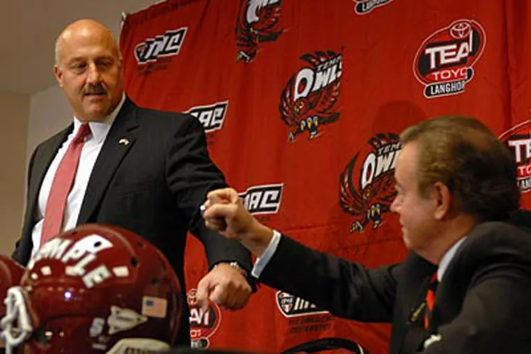 Temple will play Rutgers each year no matter the division, and wants the same with UConn and Navy. (Tom Gralish/Staff file photo)