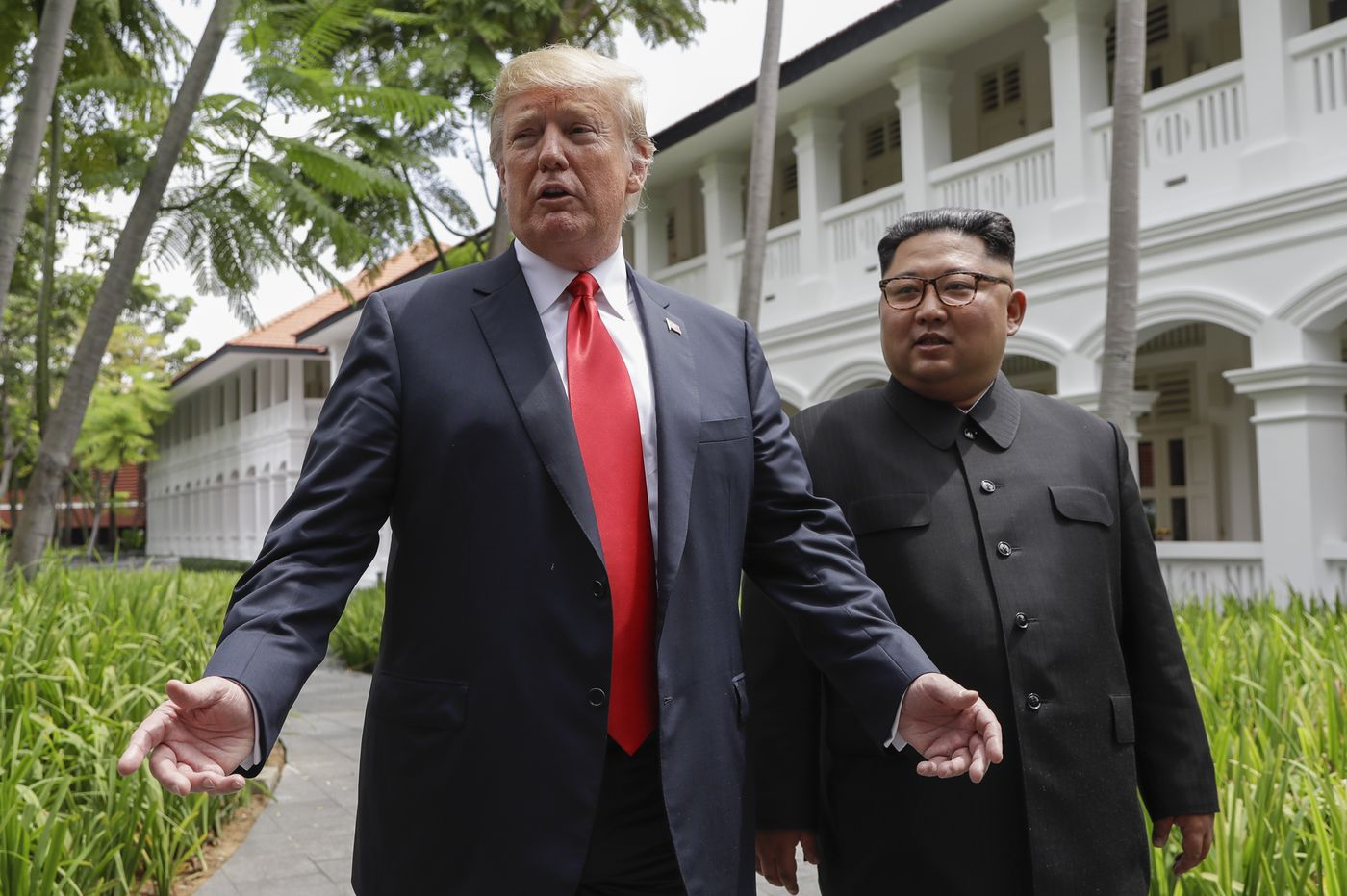 Donald Trump and Kim Jong Un heap praise on each other before summit