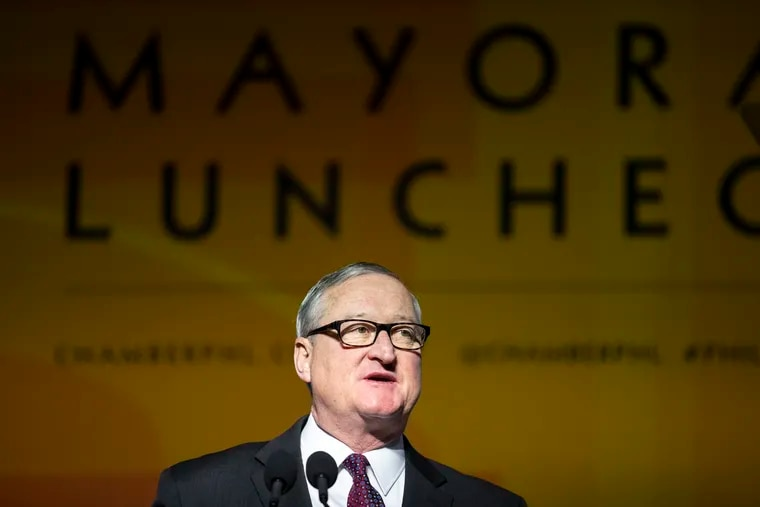 Mayor of Philadelphia, Jim Kenney speaks during the Annual Chamber of Commerce Mayoral Luncheon at the Pennsylvania Convention Center in Philadelphia, Pa., on Tuesday, February 11, 2020.