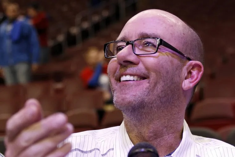 Matt Cord behind the mic before the Sixers played the Denver Nuggets in 2012. His annual Christmas broadcast moves with him to relatively-new gig at BEN-FM