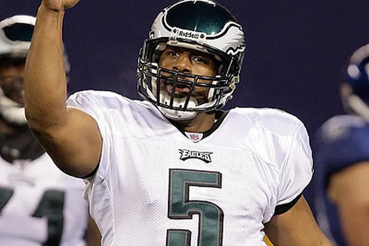 Donovan McNabb's 95.9 quarterback rating this season is the second-highest of his career. (David Maialetti/Staff Photographer)