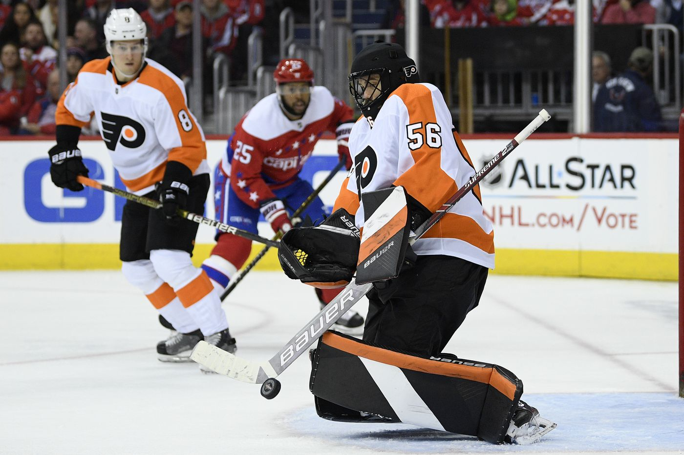 Flyers-Capitals observations: A backup goalie stands out yet again