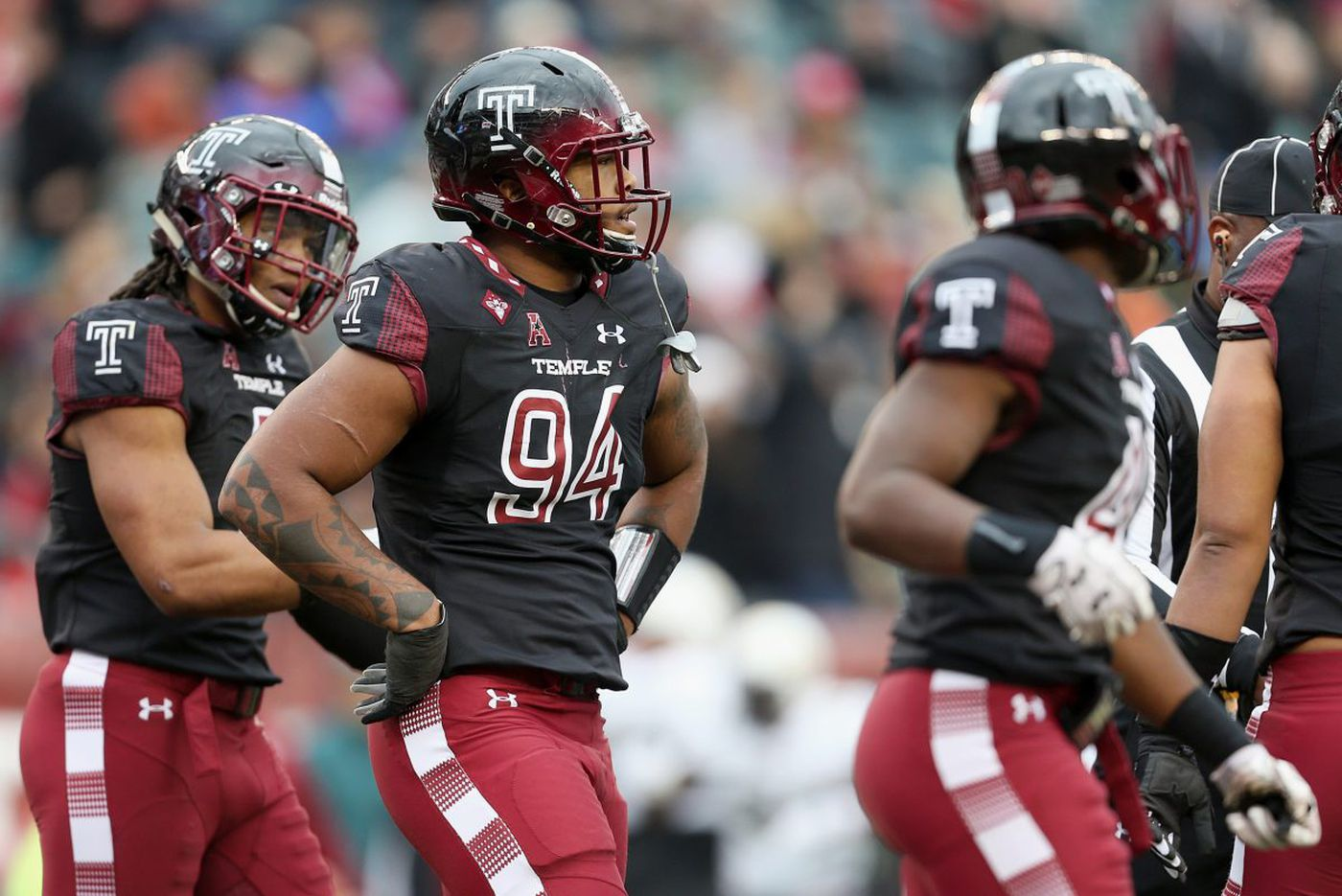Temple's Jullian Taylor has a career performance in his home finale