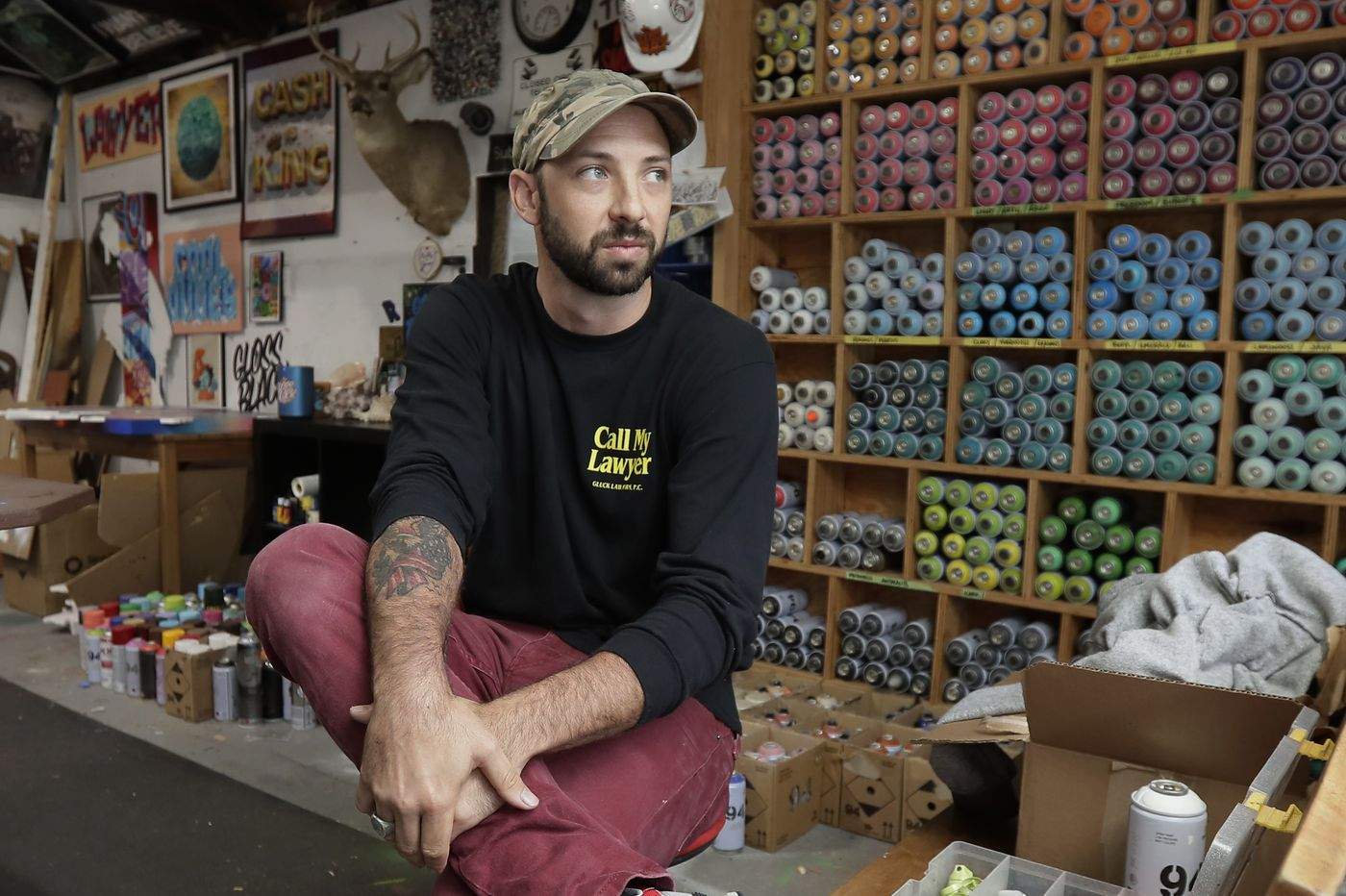 How Philly muralist Jimmy Glossblack went from tagging trains to selling art to Comcast and Google