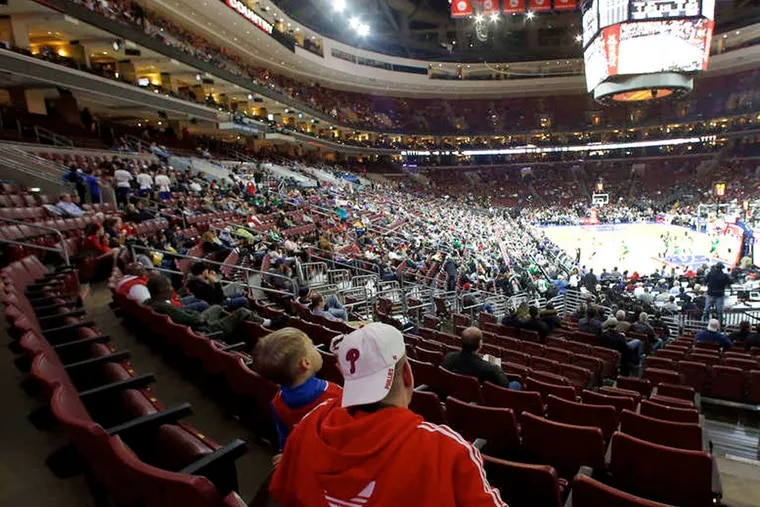 The 76ers are ranked 29th out of the 30 teams in the NBA in average attendance, the same as last season.