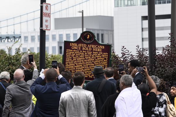 Slave auction historical marker unveiled near Camden waterfront, where hundreds were brought and sold