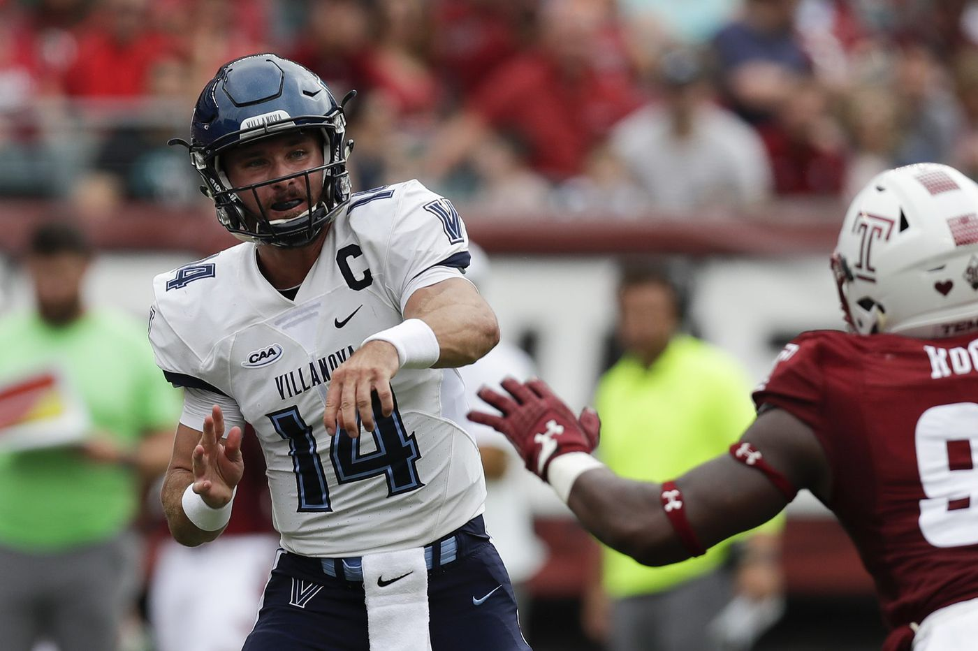 Villanova's Zach Bednarczyk is back throwing the ball and his receivers are catching it