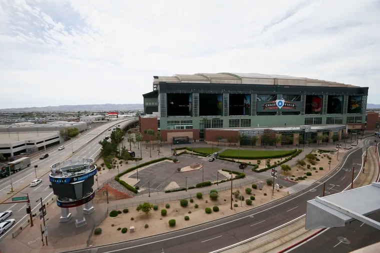 Traffic was extremely light late last month in front of Chase Field, which is capable of hosting MLB tripleheaders.
