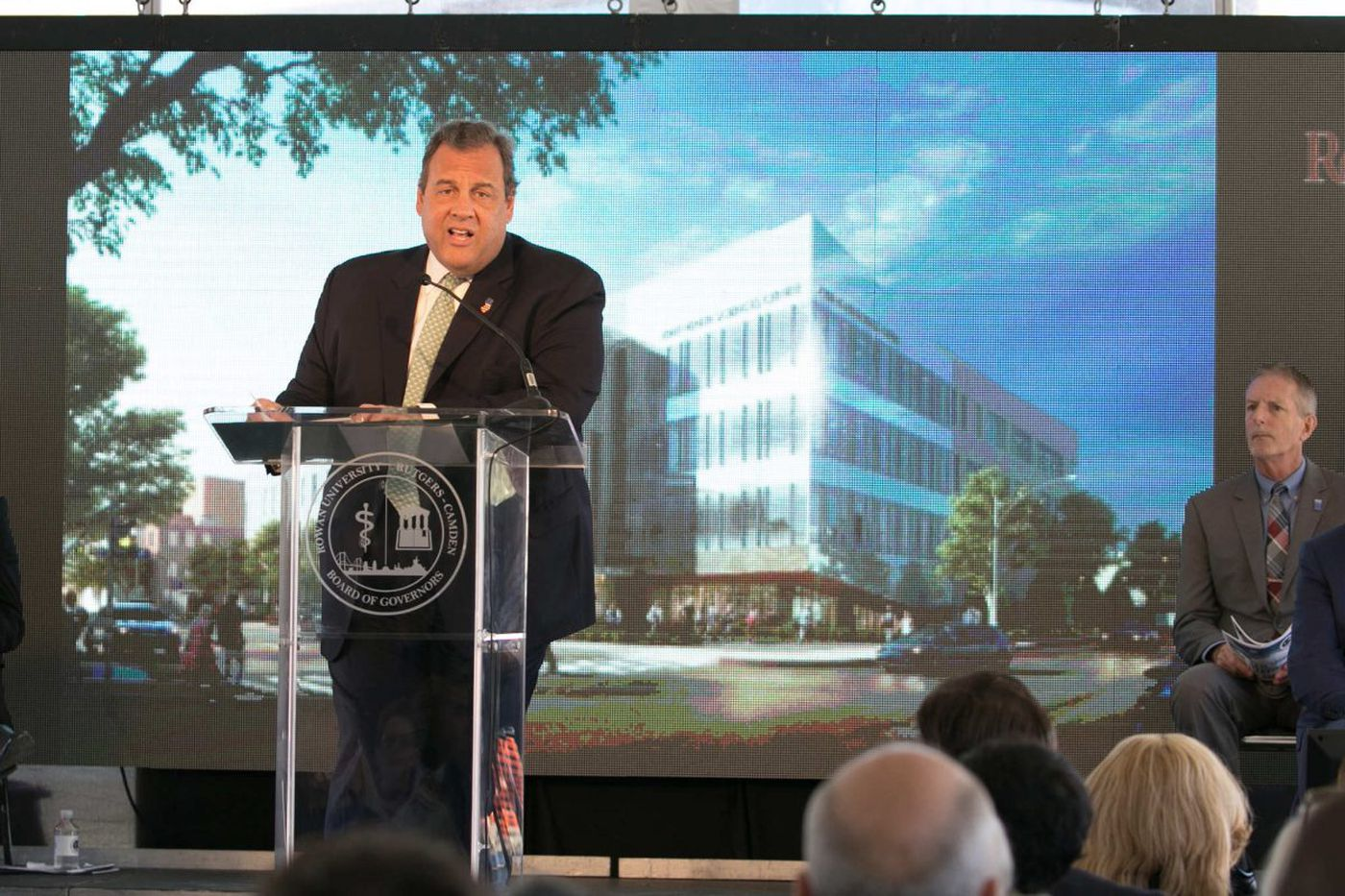 Christie and others celebrate a Camden project, but no one brings up the 'A' word