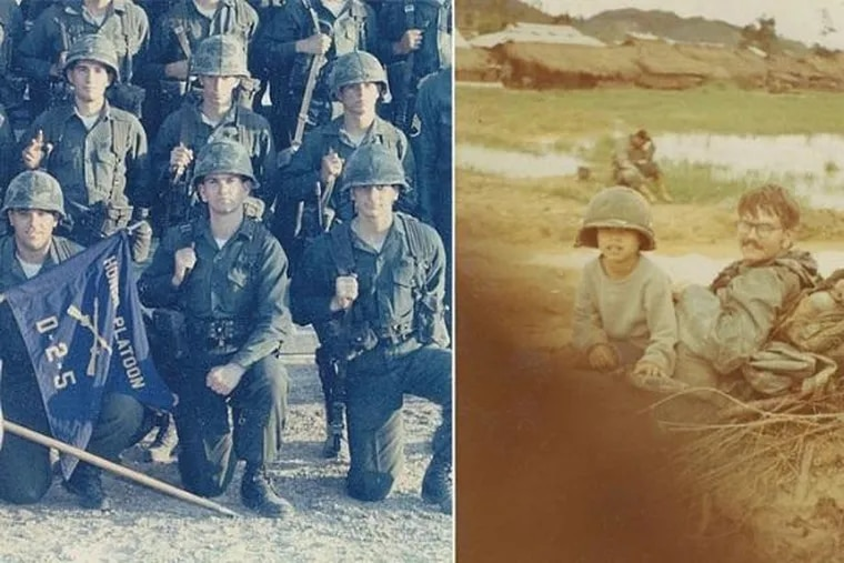 Dennis Murphy (front and center, left) spent Christmas Eve in 1970 as a solider serving in Vietnam.