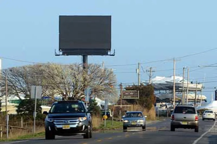 """The Levitts call the billboard an eyesore. An opposing lawyer says its location """"is not a pristine bit"""" of shore. Press of Atlantic City"""