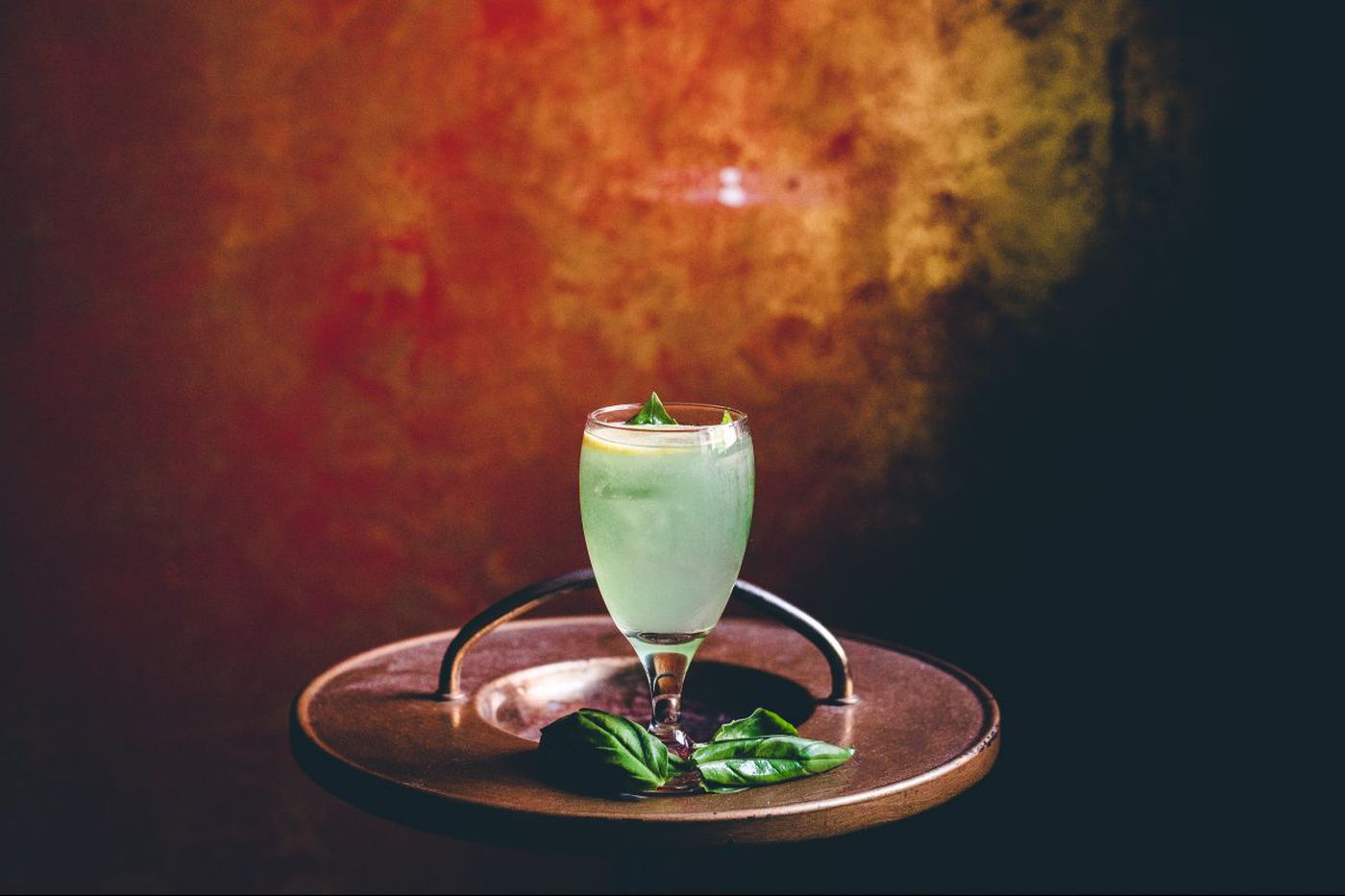 A game-day green punch to serve on Super Bowl Sunday