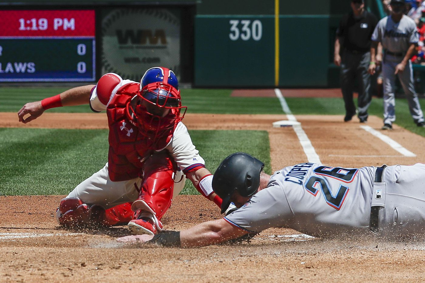Phillies' losing streak reaches seven games as last-place Marlins complete three-game sweep