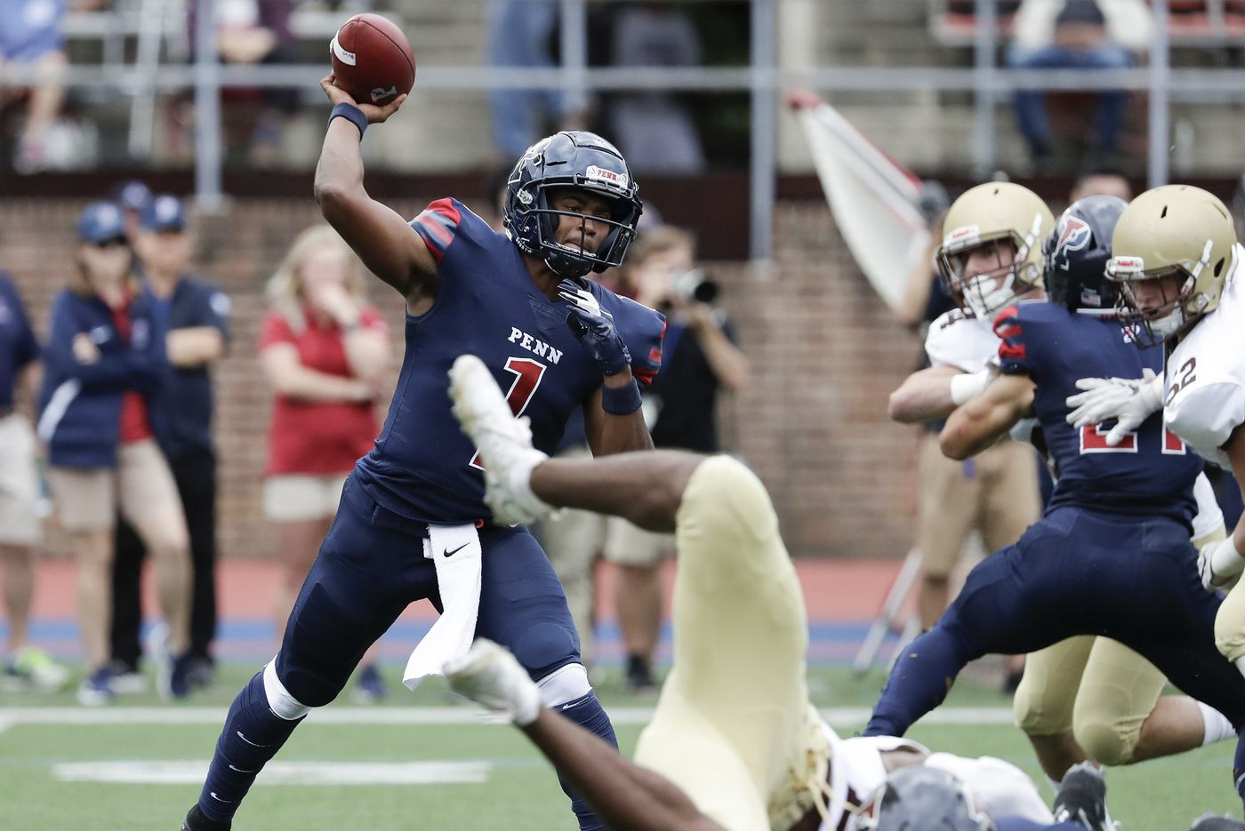 Penn quarterback Ryan Glover has been efficient at avoiding mistakes