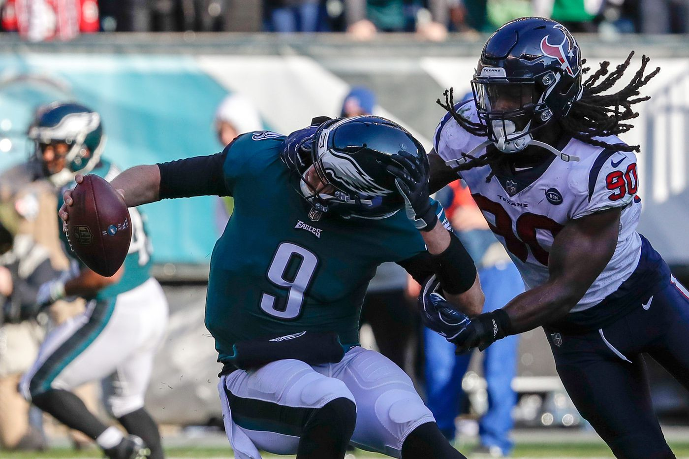 Resilient Eagles overcome officials, mistakes, and injuries to beat Texans and stay alive   Marcus Hayes