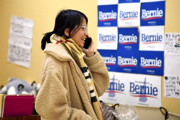 Susmik Lama works in the Bernie Sanders campaign field office in Manchester, N.H. She moved from Philadelphia in 2018 to work for the Sanders campaign, doing outreach to the Nepalese community in New Hampshire.