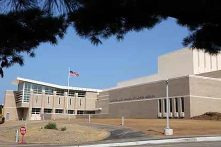 Harriton High School in Lower Merion Township. Two district technology employees are on paid leave last week pending scrutiny of a remote system to activate web cameras on student laptops. (File photo)