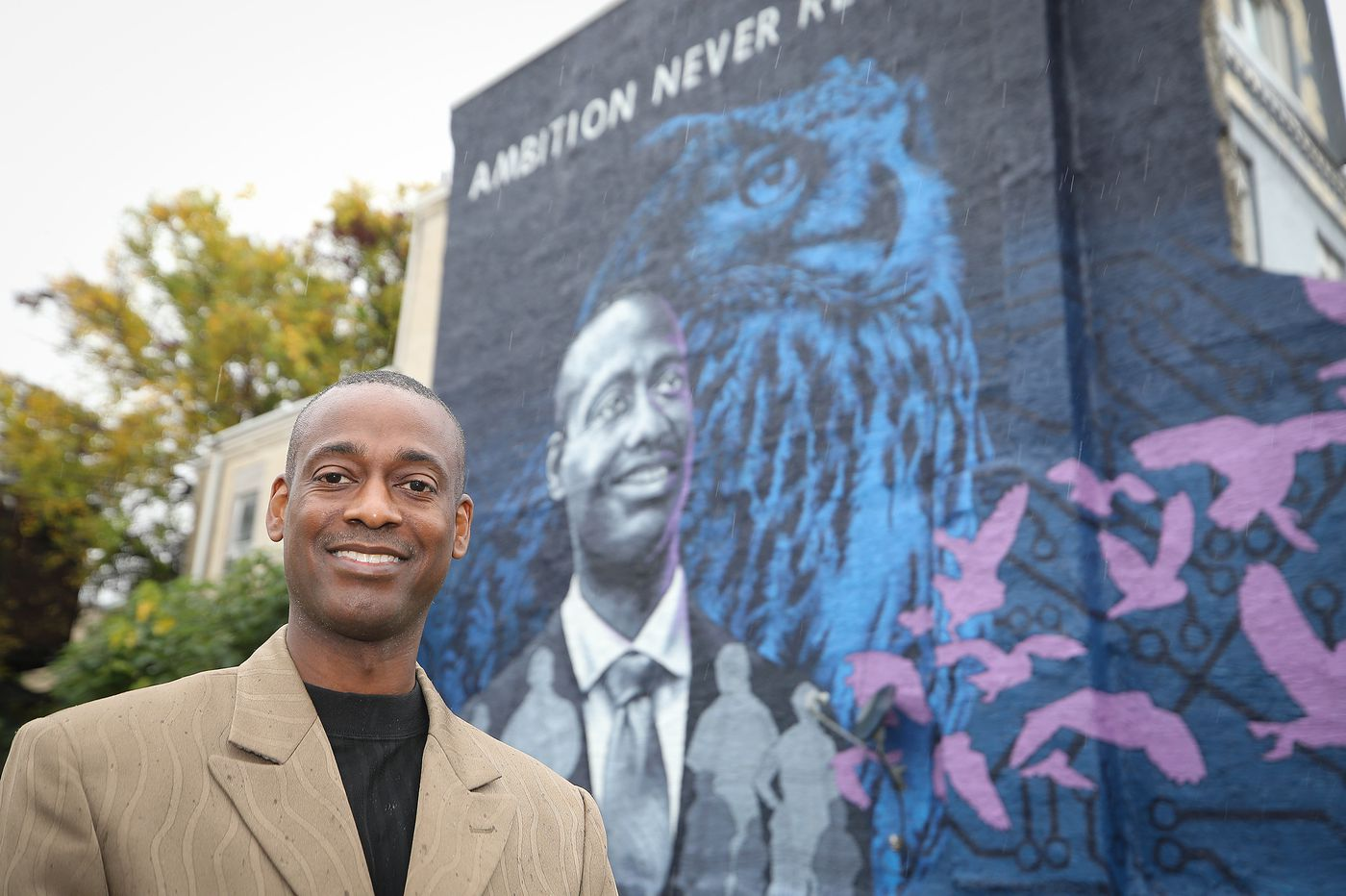 This Philly man's face is in a place to inspire young people in the Nicetown neighborhood where he grew up