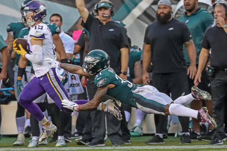 The 68-yard reception by Adam Thielen was not the finest moment Sunday for Jalen Mills.