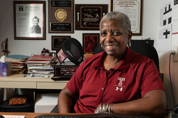 Nikki Franke, former Olympian, has built the Temple women's fencing program from the ground up