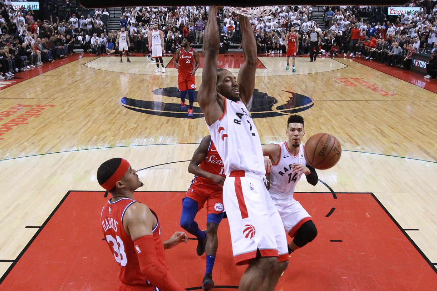 07a187f02ee4 Sixers  Tobias Harris  We came up  a little short  trying to defend  Raptors  Kawhi Leonard