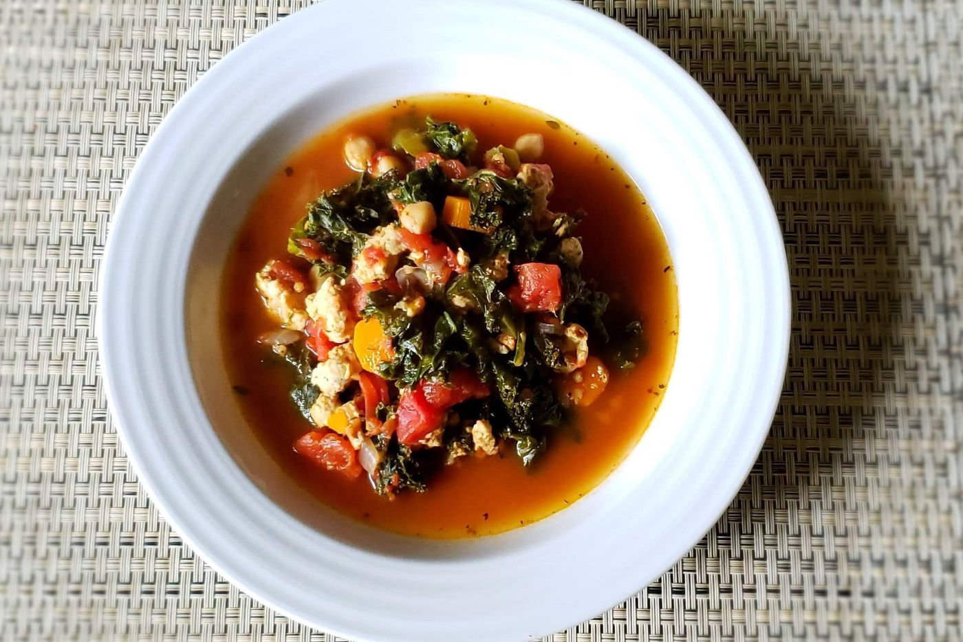 Healthy family recipe: Mediterranean turkey and kale chili