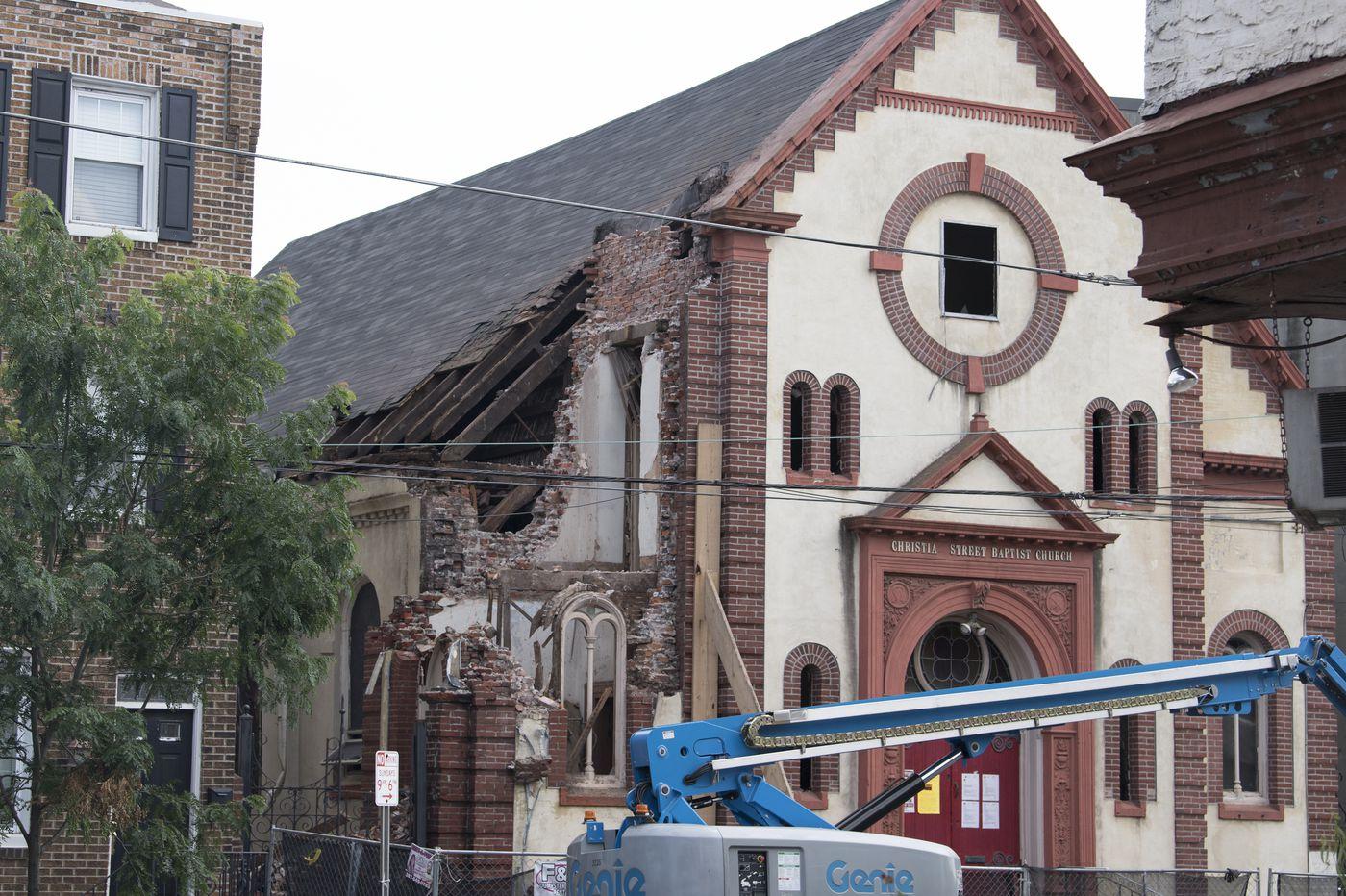 Demolition ordered by Ori Feibush continues at Christian Street Baptist Church