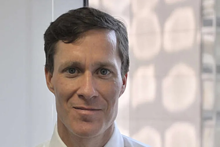 Christopher White of Phila.'s Janney Capital Markets, which just hired a team to hunt for deals in health care.