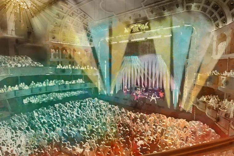 Renderings of the Met Philadelphia, the new concert venue on North Broad