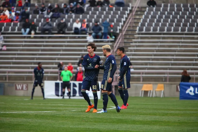 Bethlehem Steel, which this year featured top Union academy prospect Brenden Aaronson (left), has played at Lehigh University's Goodman Stadium since joining the USL in 2016.
