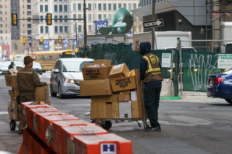 The increase in deliveries on city roads has contributed to Philadelphia's congestion problems.