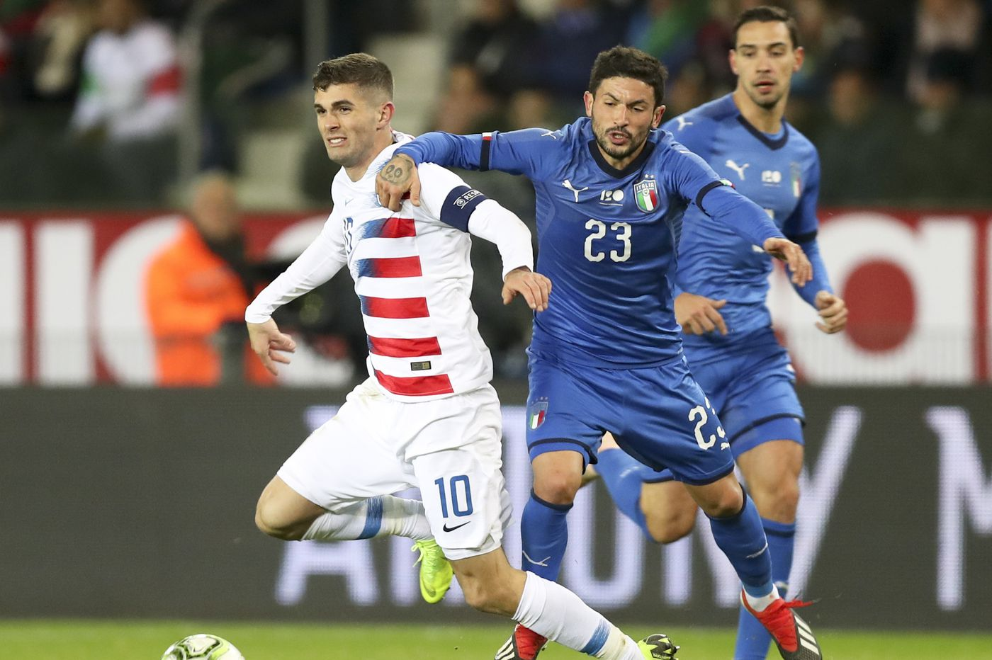 U.S. men lose to Italy in Sarachan's final game as coach; Pulisic serves as captain