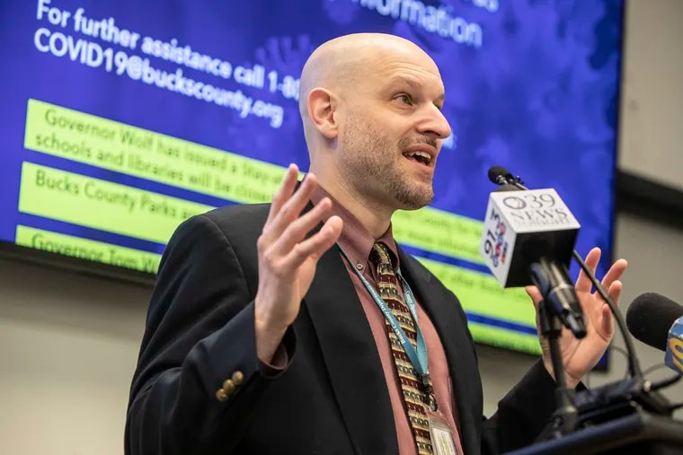 Bucks County Health Department Director David Damsker's approach to school reopening and mask-wearing has been controversial, praised by parents in favor of swifter reopenings but criticized by others who worry he's taken too lax an approach.