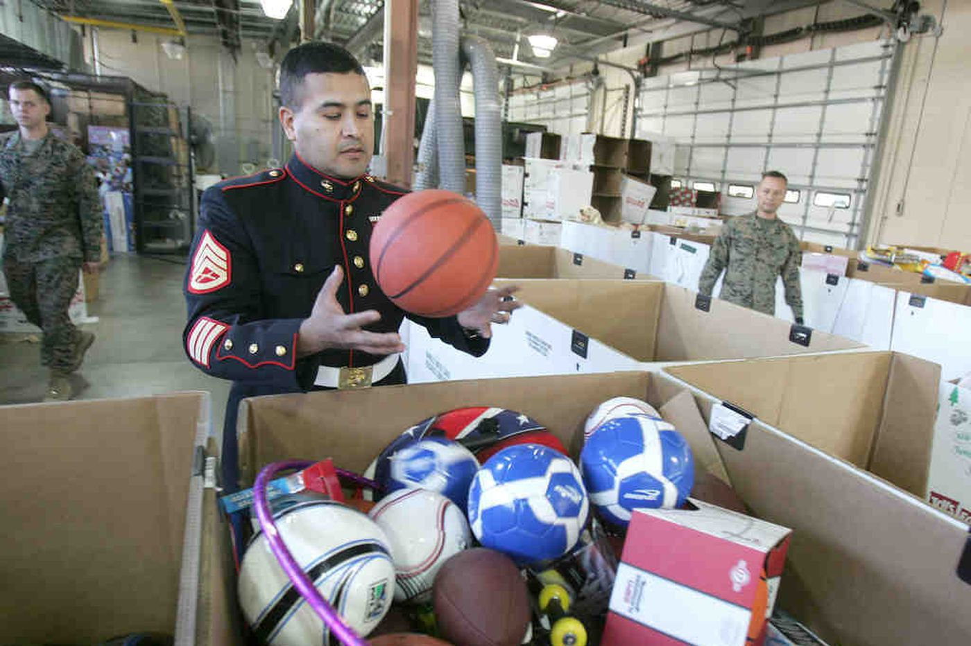 Once again, secret Santas fill Toys for Tots collections
