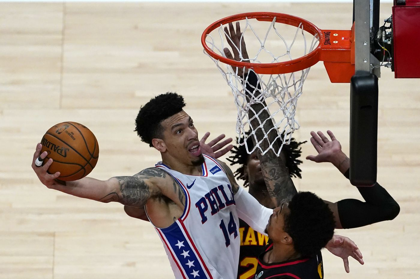 Sixers-Hawks best/worst: Danny Green's shooting woes, John Collins' three-point clinic