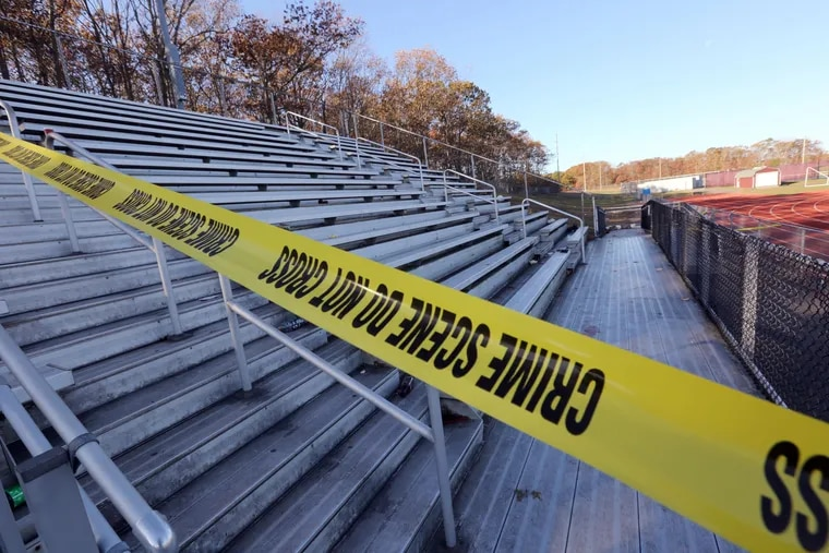 Scene of a shooting at the Pleasantville High School football field during a game against Camden Central High School, Saturday, Nov.16, 2019.