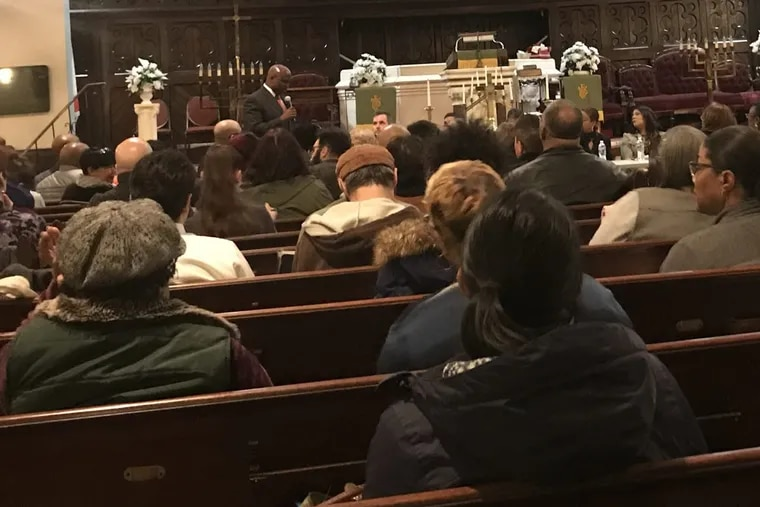 At a panel discussion organized by Solomon Jones (pictured), more than 200 people filled Mt. Tabor AME Church in North Philadelphia to demand answers about Philadelphia city officials and their support of Comprehensive User Engagement Sites (CUES).