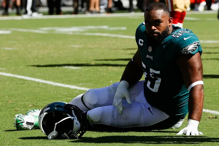 Eagles defensive end Brandon Graham will miss the rest of the season because of a ruptured Achilles.
