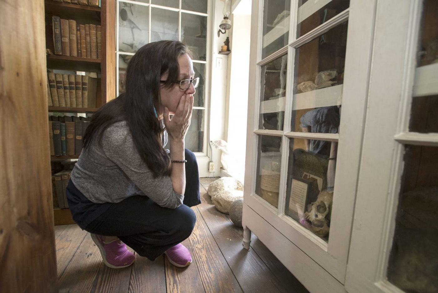 At Byberry Quaker library, a grim find: Native American remains in display case