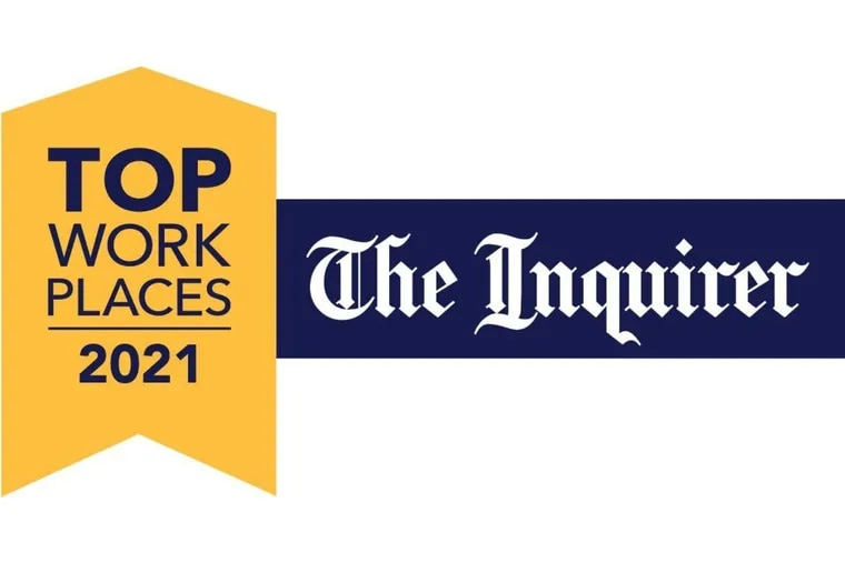 The Philadelphia Inquirer's 2021 Top Workplaces were compiled by Exton-based Energage.