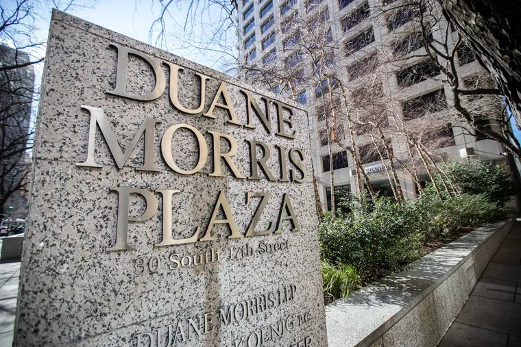 Duane Morris law firm at 30 S. 17th St. in Philadelphia. It was a record year for law firm mergers in 2019, with the announcements by two venerable Philadelphia institutions ranking as the nation's biggest acquisitions of the year.