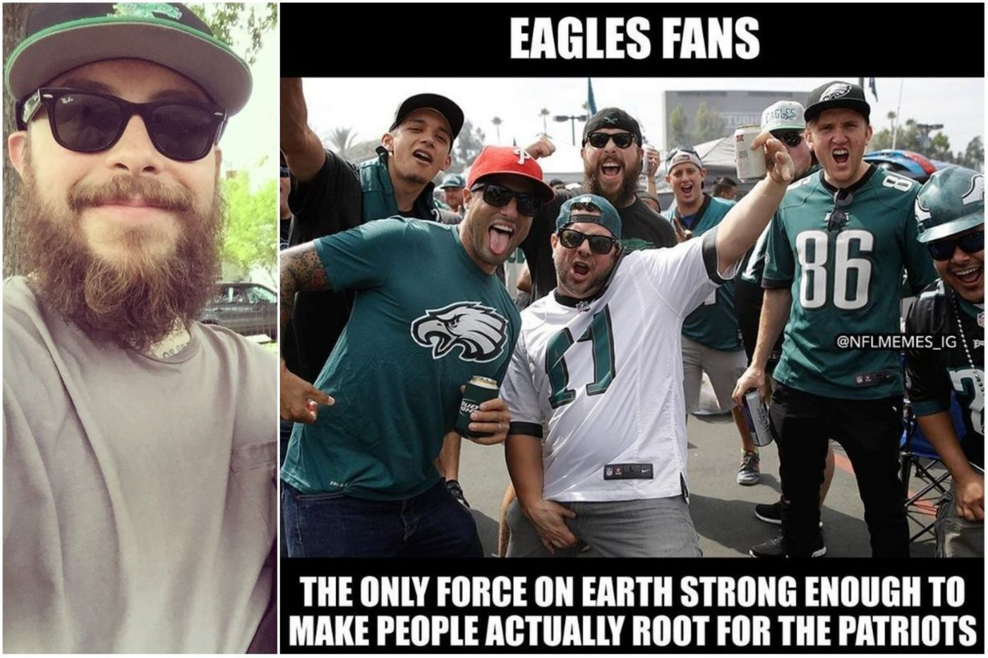 What it's like to be the subject of an anti-Eagles viral photo