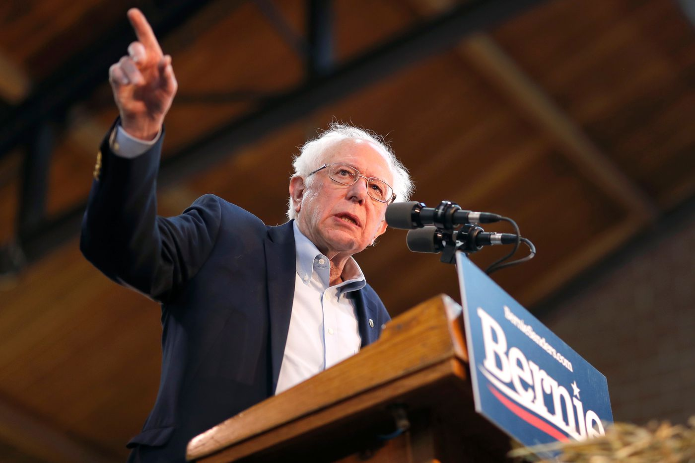 Bernie Sanders takes jabs at Donald Trump while other Democrats avoid president's name