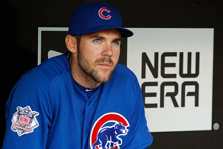 Former Villanova baseball and football star Matt Szczur, pictured here with the Chicago Cubs, will have a chance to make the Phillies' roster next year after signing a minor-league contract.