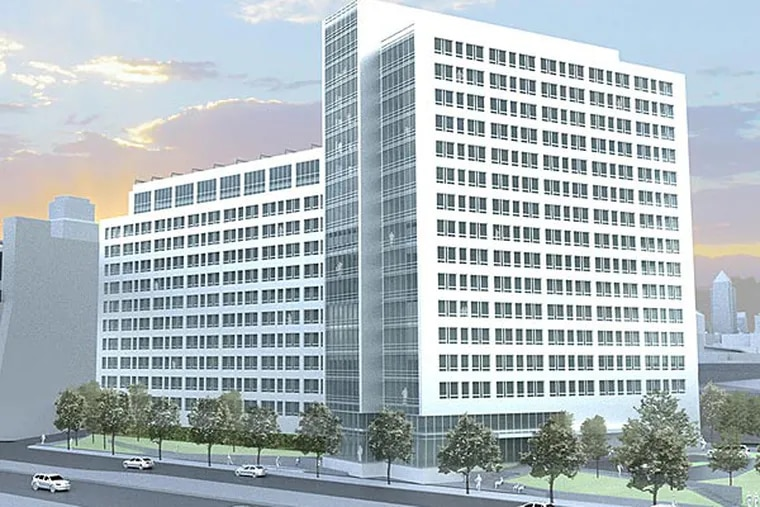 The One Water Street proposal is an improvement over previous plans for the site next to the Ben Franklin Bridge, but still offers little to develop ground-level activity in the area.