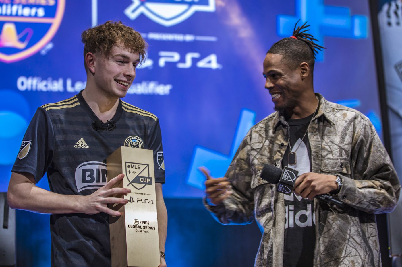 A West Chester high school student is beating pro gamers in FIFA, playing for the Union