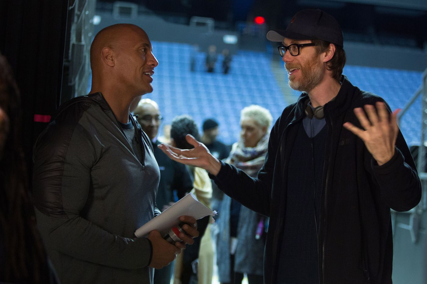 Stephen Merchant, aka the guy who created 'The Office,' talks about his buddy the Rock and wrestling with drama in 'Fighting with My Family'