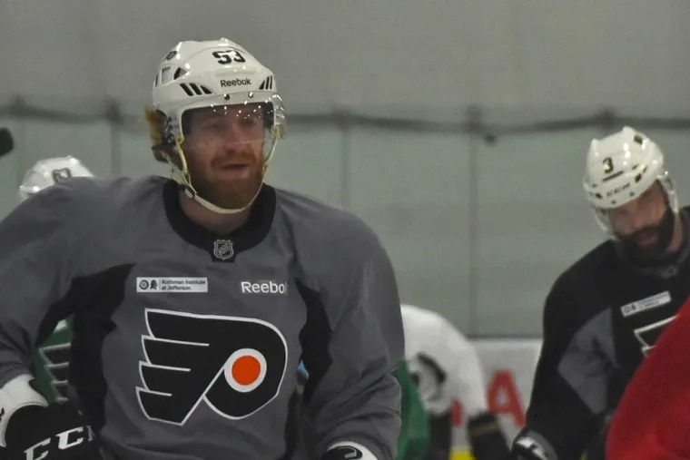 Jake Voracek and the Flyers are aiming for their fifth straight win Thursday.