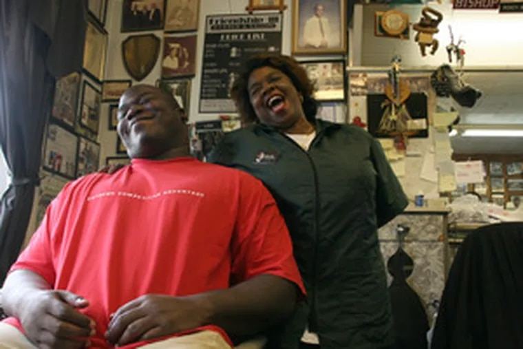 In Barack Obama, young African Americans have a presidential role model, says Philadelphia Soul player Phil Bogle, at the Friendship III Barber Shop in Lawnside. Now, says Lisa Bryant, the barber behind him, Obama has to win.